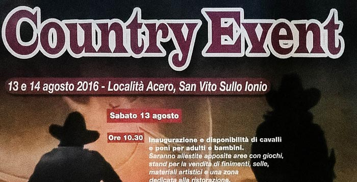 country event san vito